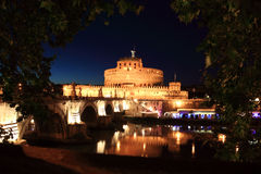 Sant' Angelo Bridge and Sant' Angelo Castel Royalty Free Stock Images