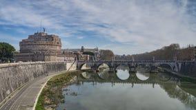 Sant Angelo Castel i Rome Arkivfoto