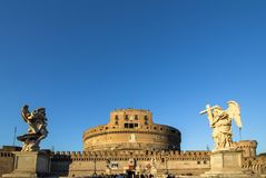 Sant ` Angelo Castel, Rome Royaltyfri Fotografi