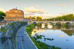 Sant Angelo Castel in Rome, Italy Royalty Free Stock Photos