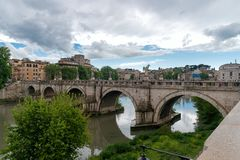 Sant`Angelo castel - Tevere river - Rome - Italy. View of Sant`Angelo castel - Tevere river - Rome - Italy stock photos