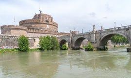 Sant`Angelo castel - Tevere river - Rome - Italy. View of Sant`Angelo castel - Tevere river - Rome - Italy royalty free stock photos