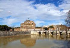 Sant'Angelo Castle και γέφυρα στη Ρώμη, Ιταλία Στοκ φωτογραφίες με δικαίωμα ελεύθερης χρήσης