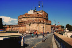 Sant'Angelo castle. Rome italy vatican Royalty Free Stock Photos