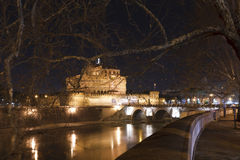 Sant'Angelo Castle and Bridge Royalty Free Stock Images