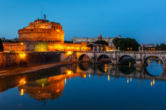 Sant Angelo Castle at night Royalty Free Stock Photo