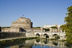 Sant Angelo Castle in Rome Stock Image