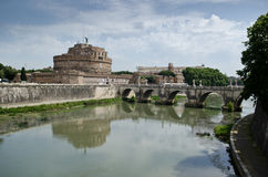 Sant Angelo Castle in Rome Stock Image