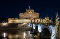 Sant'Angelo Castle. Rome by night, Sant' Angelo castle Royalty Free Stock Image