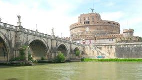 sant'angelo del castel, castillo del ángel santo, Roma, Italia, 4k almacen de metraje de vídeo