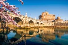 Sant-` Angelo-Festung am Frühling, Rom stockbilder