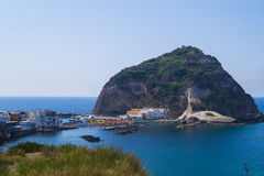 Sant`angelo, Ischia. Marina di Sant`angelo, Ischia -port in little commune Stock Photos