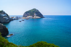 Sant`angelo, Ischia. Marina di Sant`angelo, Ischia -port in little commune Stock Image