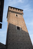 Sant ` Angelo Lodigiano Włochy: średniowieczny kasztel Zdjęcia Stock