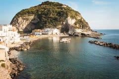 Sant'Angelo miasteczko przy Ischia wyspą Obrazy Stock