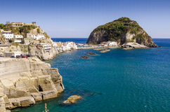 Sant Angelo nos ísquios da ilha, Itália Fotos de Stock Royalty Free