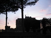 sant-angelo-at-sunset Stock Photo