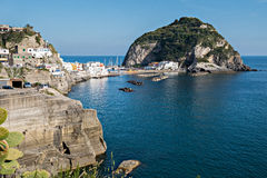 Sant'Angelo town at Ischia Island Stock Images