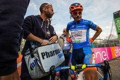 Sant Anna, Italy May 28, 2016; Damiano Cunego, Nippo Vini Fantini Team, in blue jersey Royalty Free Stock Photos