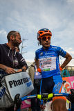 Sant Anna, Italy May 28, 2016; Damiano Cunego, Nippo Vini Fantini Team, in blue jersey Stock Photo