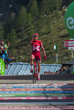 Sant Anna, Italy May 28, 2016; Rein Taaramae, Katusha  team, exhausted passes the finish line and Win a hard mountain stage Royalty Free Stock Photos