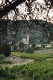 Sant'Antimo修道院在蒙达奇诺 库存照片