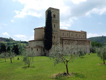 Sant Antimo Abbey Royaltyfria Foton