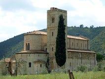 Sant Antimo Abbey Fotografía de archivo