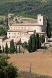 Sant Antimo Abbey nära Montalcino i Tuscany, Royaltyfri Fotografi