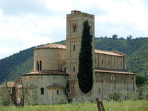 Sant Antimo Abbey Stock Photography