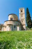 Sant'Antimo Abbey, Toskana - Italien Stockbild
