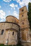Sant Antimo cerca de Montalcino, Toscana Foto de archivo