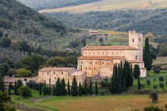 Sant Antimo nära Montalcino, Tuscany Royaltyfria Bilder
