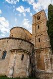 Sant Antimo nära Montalcino, Tuscany Arkivfoto