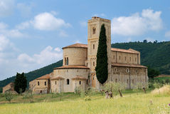 Sant Antimo near Montalcino, Tuscany stock photo