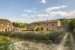 Sant'Antimo - Ancient house with lavender Stock Photos