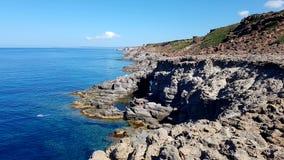 Sant'Antioco海,撒丁岛 免版税库存图片
