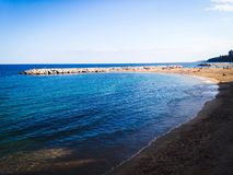 Sant Antoni Calonge Beach water. Blue water beach Stock Photography