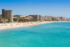 Sant Antoni de Calonge. Beach of Sant Antoni de Calonge - Costa Brava royalty free stock photography