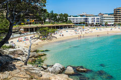 Sant Antoni de Calonge. Beach of Sant Antoni de Calonge - Costa Brava stock images