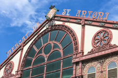Sant Antoni Market, Barcelona. Restored facade Sant Antoni Market, Barcelona, Catalonia, Spain royalty free stock photos