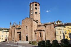 Sant Antonino Basilica em Placência, Itália Fotografia de Stock Royalty Free
