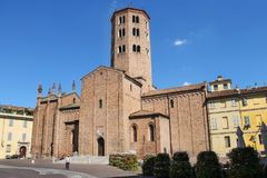 Sant Antonino Basilica i Piacenza, Italien Royaltyfri Fotografi