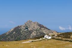 Sant'Antonino kyrkogård Korsika Fotografering för Bildbyråer