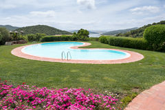 SANT'ANTONIO DI GALLURA, SARDINIA/ITALY - MAY 20 : Swimming pool Royalty Free Stock Image