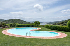 SANT'ANTONIO DI GALLURA, SARDINIA/ITALY - MAY 20 : Swimming pool stock photography