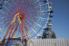 Wonder Wheel in Ibiza royalty free stock images