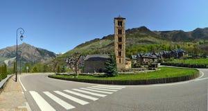 Sant Climent av den Tahull kyrkan i Val de Boi royaltyfria bilder