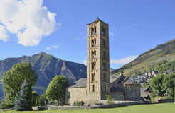 Sant Climent de Taull. Belfry and church of Sant Climent de Taull, Lleida, Catalonia, Spain Stock Images