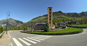 Sant Climent of Tahull church in Val de Boi royalty free stock images